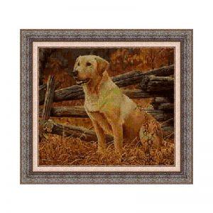 Kit de punto de cruz de Animales, perro labrador