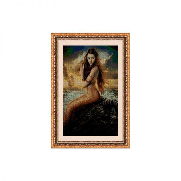 Kits de punto de cruz: Sirena de Piratas del Caribe