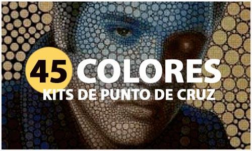 Kits de punto de cruz de 45 colores